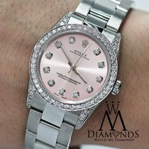 Rolex Diamond Ladies Rolex Oyster Perpetual Mid-size 31mm Pink...