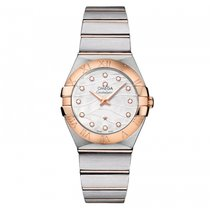 Omega Constellation  Steel -  Red Gold Ladies watch 123.20.27....