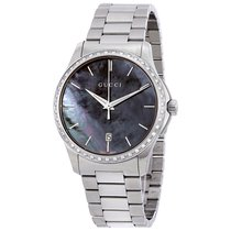 Gucci G-Timeless Black Mother of Pearl Diamond Unisex Watch...