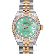 Rolex Lady Datejust Mint Green Steel/18k Yellow Gold Dia 28mm...