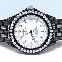 Breitling Unisex 38 Mm Breitling Chronometre Black Pvd Diamond...