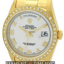 Rolex Day-Date President 36mm 18k Yellow Gold Diamond Bezel...