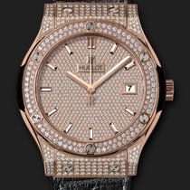 Hublot Classic Fusion King Gold Full Pavé 45 mm