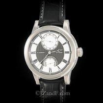 L.Leroy Marine Automatic Deck Chronometer 18K White Gold Power...