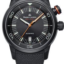 Maurice Lacroix Pontos S Diver, Date, Black PVD Rubber and...