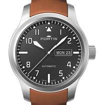 Fortis Aviatis Aeromaster Steel Auto Swiss Watch Gold Strap...