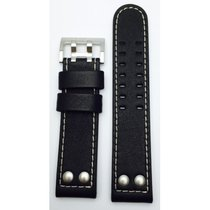 Hamilton Khaki Officer Lederband schwarz H600.706.100 22/22mm
