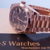 Rolex Day Date / Choco & Diamonds