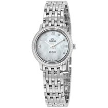Omega De Ville Prestige Mother of Pearl Dial Stainless Steel...