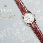 Rolex Cellini Danaos 18k White/Rose Gold w/ Leather Band