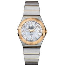 Omega Constellation SS & Yellow Gold Mop White 123.20.27.2...