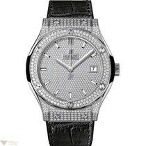 Hublot Classic Titanium Diaminds Leather Fusion Men's Watch