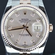 Rolex Datejust 36MM Gold/Steel Pink Diamond Dial Full Set