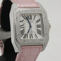 Cartier Santos 100 Lady in 18K white gold with factory...