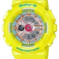 Casio Womens Baby-G - Analog-Digital - Yellow 3-D Face - 100M...