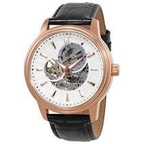 Invicta Vintage Automatic Silver Skeleton  Dial Mens Watch 22579