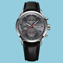 Raymond Weil Freelancer Chronograph Grau Lederband schwarz -NEU-