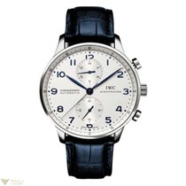 IWC Portuguese Automatic Chronograph Silver Dial Dark Blue...