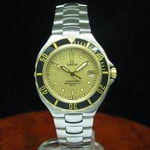 Omega Seamaster Professional Pre Bond 18kt Gold Stahl Herrenuh...