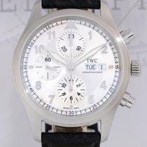 IWC Flieger Spitfire Silver Silber Cronograph Day Date Big 42mm