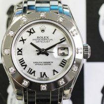 Rolex 80319 Pearlmaster 29 WG 12 Diam Bezel White Roman Dial