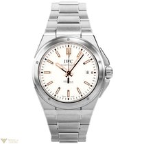 IWC Ingenieur Stainless Steel gold-tone hands and markers...