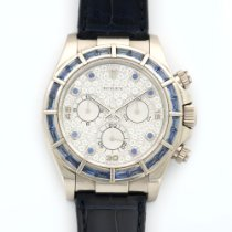 Rolex White Gold Daytona Diamond Sapphire Ref. 116589
