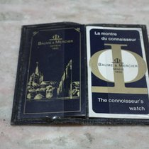 Baume & Mercier vintage booklets and leather wallet  used...