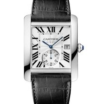Cartier W5330003 Tank MC with Small Seconds - Steel on Leather...