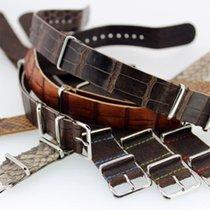 ABP Paris Nato calf alligator leather straps bands 18mm 20mm...