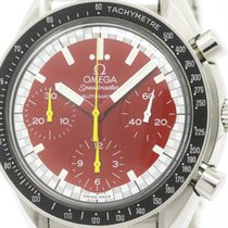Omega Polished Omega Speedmaster Michael Schumacher Red Dial...