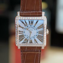 Franck Muller Rose Gold Square Diamonds Watch