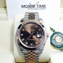 Rolex Datejust II Everose Gold Steel Choco Brown Diamonds 41mm
