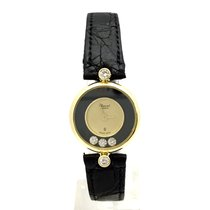 Chopard Happy Diamonds 18k Yellow Gold Ladies Watch W/ Moving...