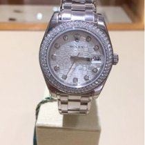 Rolex White Gold 34mm President Silver Jubilee Diamonds. 81339