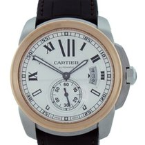 Cartier Steel and Rose Gold Calibre de Cartier W7100039