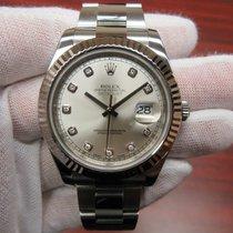Rolex Datejust II 116334 Silver Diamond Dial