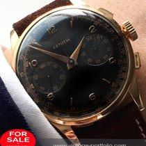 Zenith Top Vintage  37mm Oversize Zenith Chronograph 18 ct...