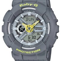 Casio Womens Baby-G Perforated Band - Grey Case & Strap -...