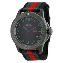 Gucci G Timeless Nylon Strap Mens Watch YA126229