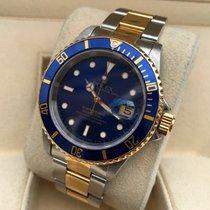 Rolex Oyster Submariner Gold Steel Blue Dial 40 mm (Full Set)