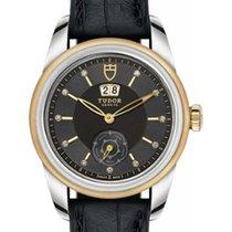Tudor Glamour Day & Date 56000 Black Diamond Yellow Gold...