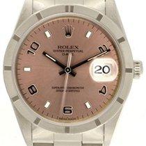 Rolex Date Men's Watch 15210 Rose dial