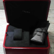 Cartier vintage red leather watch and jewelry box COWA010 new