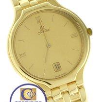 Omega DeVille Date 31mm 18K Yellow Gold Roman Numeral Quartz...
