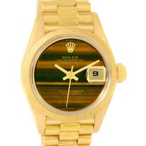 Rolex President Datejust Ladies 18k Yellow Gold Tiger Eye...