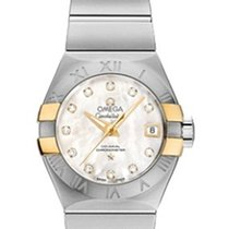 Omega Constellation Co Axial in Steel and Yellow Gold