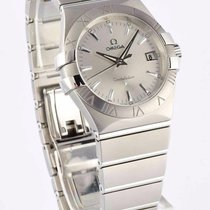 Omega Constellation Quartz 35mm Silver Dial Steel Watch...