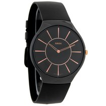 Rado True Thinline Unisex Black Ceramic Swiss Quartz Watch...