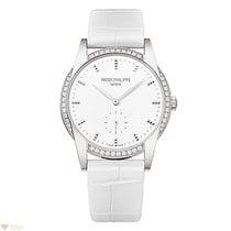 Patek Philippe Calatrava White Dial White Gold 33mm Ladies Watch